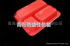 四格餐盒外卖打包盒快餐盒一次性塑料餐盒