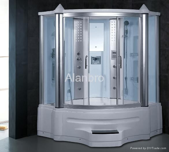 Steam Shower Room With Spa Bathtub Together For Two Person