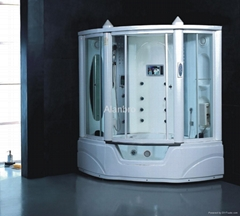 Computerized steam shower room combo with bathtub TV and MP3