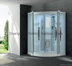 Acrylic White Shower steam cabin  massage shower room G248