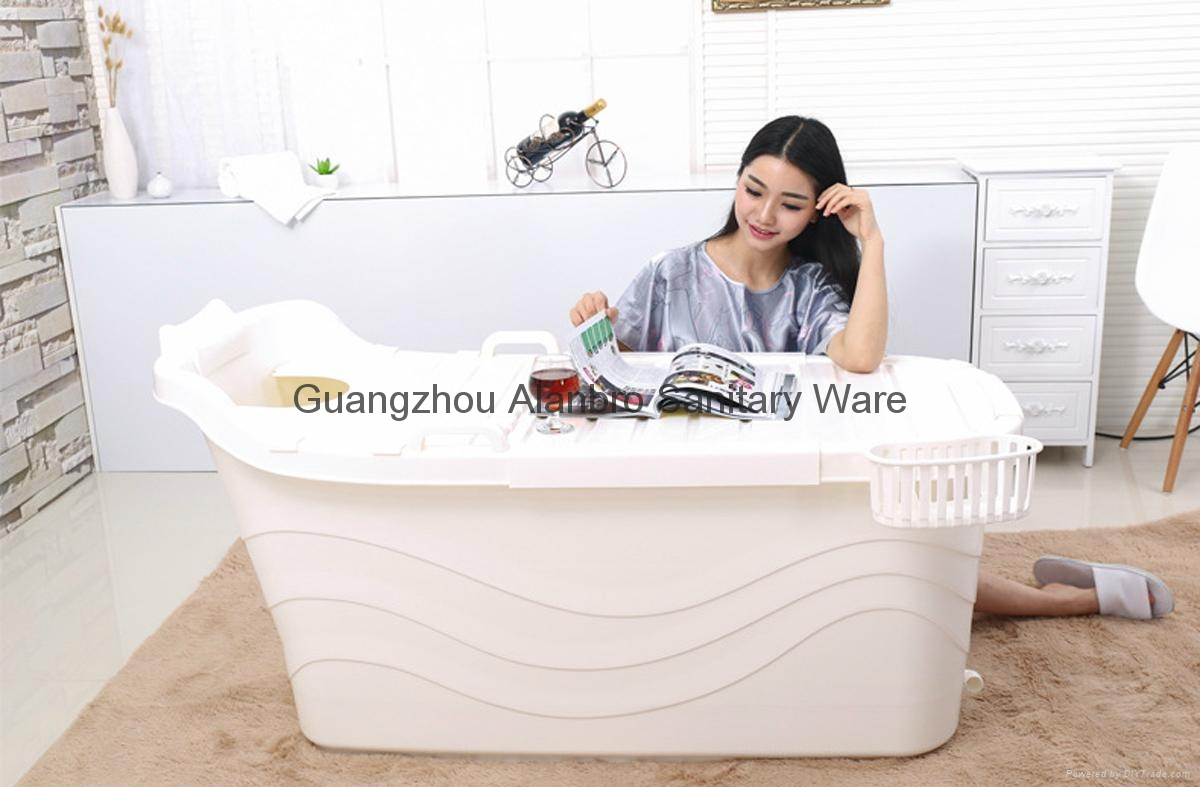 indoor portable bathtub food grade PP5 material plastic bathtub for ...