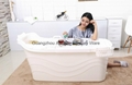 indoor portable bathtub food grade PP5 material plastic bathtub for adult 1