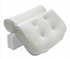 Eco Friendly Air Mesh Spa Bath Tub Pillow Waterproof Cushion With Suction Cups