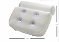 Eco Friendly Air Mesh Spa Bath Tub Pillow Waterproof Cushion With Suction Cups 3