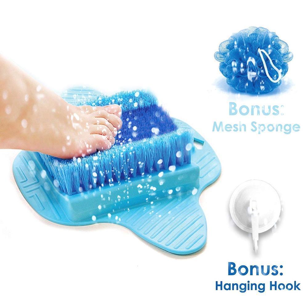 Feet Cleaner Feet Shower Spas Exfoliating Easy Cleaning Brush 4