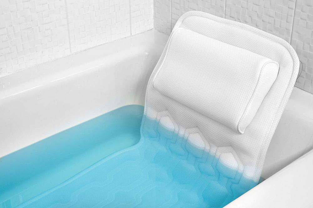Soft and washable Massage cooling Bath pillow Headrest Pillow for Bathtub 1