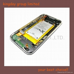 For iPhone 3GS Back cover with frame,audio flex cable, vibrator,dock connector