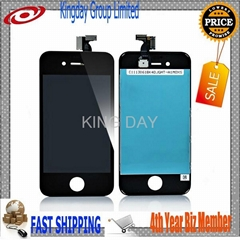 For iPhone 4S LCD Display Digitizer Touch Screen Panel Frame Assembly Black