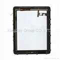 For iPad 3 wifi+3G digitizer touch screen with frame white and black