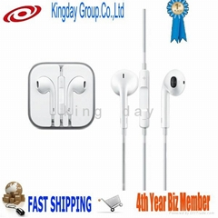 For Apple iPhone,iPad,iPod EarPods with Remote and Mic with high quality