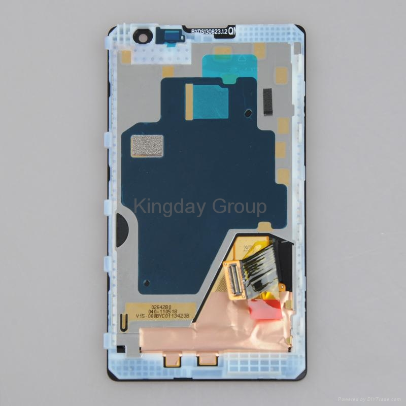 Nokia Lumia 1020 LCD Display Touch Screen Digitizer Assembly with Frame Black 2