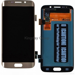 For Samsung Galaxy S6 Edge G925F LCD Screen and Digitizer Assembly Gold Original