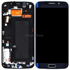 For Samsung Galaxy S6 Edge LCD Screen and Digitizer Assembly with Frame Sapphire