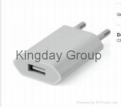 Apple iPhone 5 5C 5S 6 6 Plus USB Power Adapter EU Plug OEM