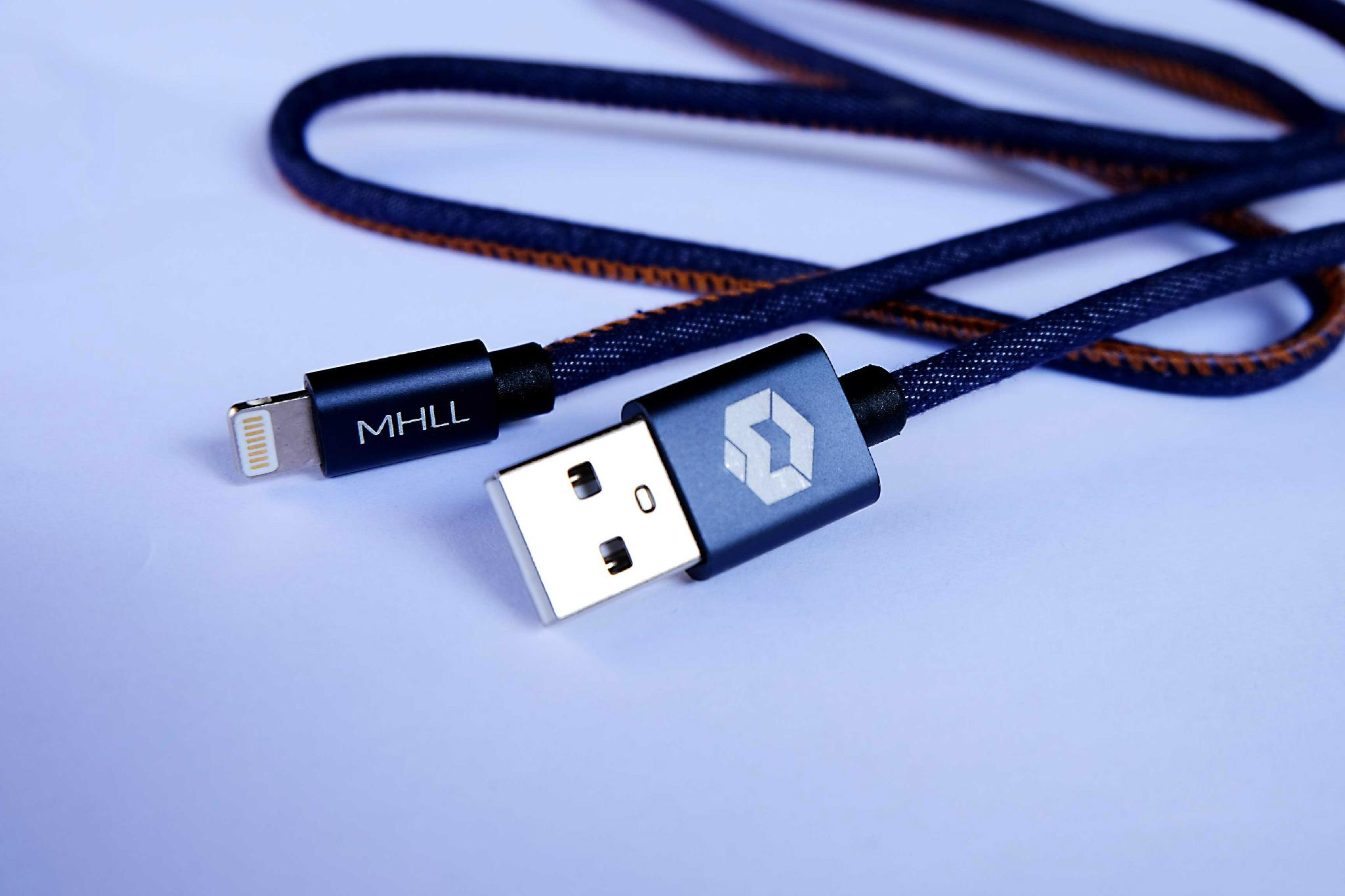 Denim Fabric iPhone Lightning USB Cable for iPhone 6 6S 6 Plus 7 Plus 1