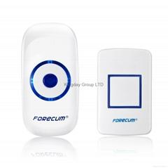 Wireless Doorbell 36 Melody 4-Level Volume EU Plug-in Receiver 500 Feet Range