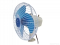 6 Inch white Metal Guard Oscillating Fan