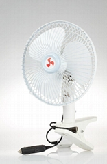 "8"" Double Motors 360 Degree Clip-on Fan 12v/24V with High quality Cigarette"