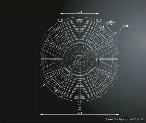 "10"" AXIAL FANS-10straight blade B1 3"