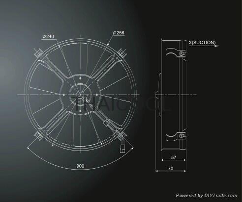 "10"" AXIAL FANS-6straight blade E1 3"