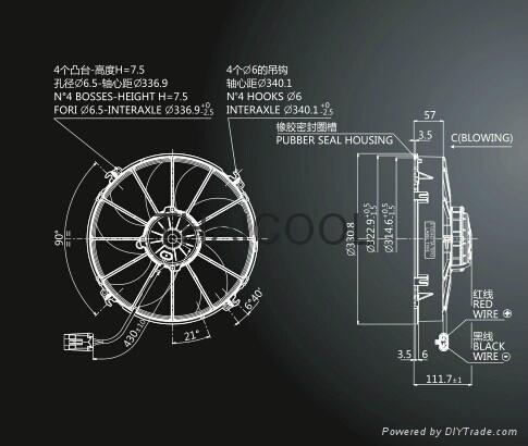 """12"""" AXIAL FANS-5 skewed blade C2 3"""