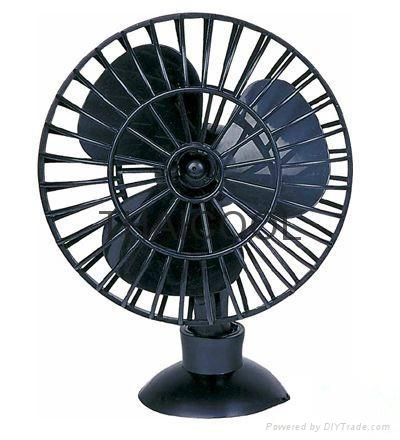 "5"" Mini Suction Car Fan 12V / 24V Oscillating Radial Fa 1"