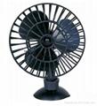 "5"" Mini Suction Car Fan 12V / 24V Oscillating Radial Fa"