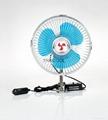 """6"""" full-seal Metal Guard Car Fan 12V/24V Oscillating Auto Fan 2"""