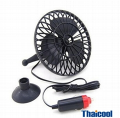 4'' mini oscillating car fan 12V 8W