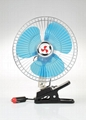 "DUAL POWER 12 V BATTERY 10"" PORTABLE CAR FAN FOR AUTO FAN 6"