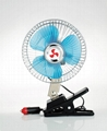 "DUAL POWER 12 V BATTERY 10"" PORTABLE CAR FAN FOR AUTO FAN 5"