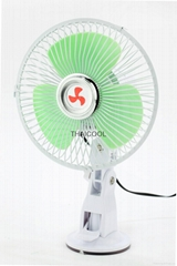Oscillating Mini Suction Car Fan with Suction Cup