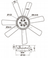 Engine fan blade