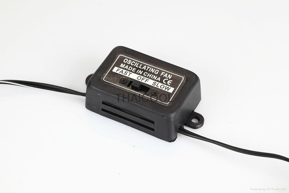 """6"""" full-seal Metal Guard Car Fan 12V/24V Oscillating Auto Fan 4"""