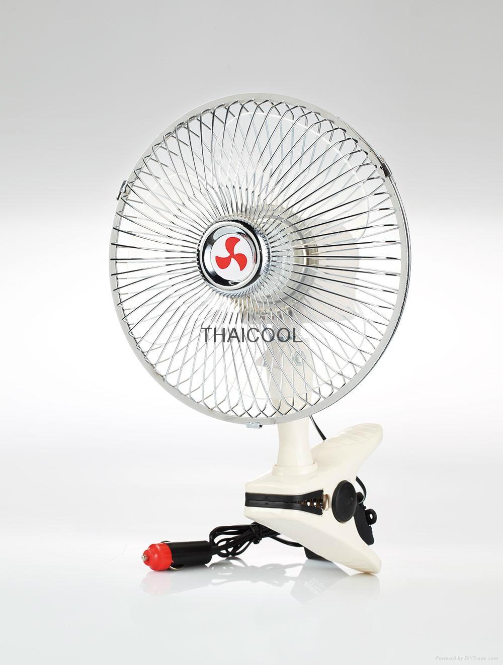 """6""""  Mini Oscillating Clip Car Fan Full-seal Guard 12V / 24V SUV RV 2"""