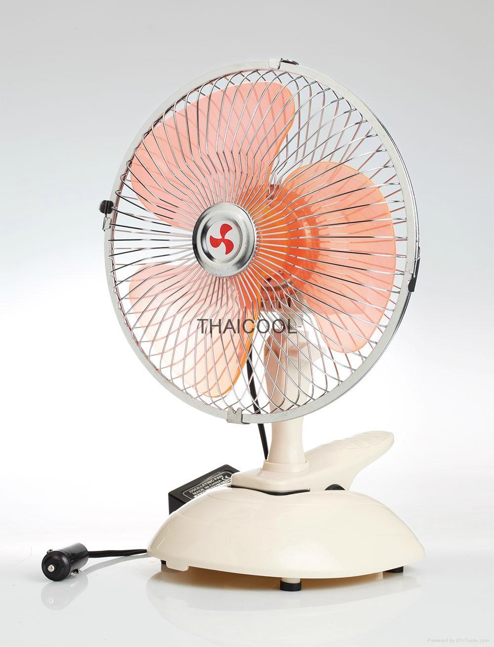 """6""""  Mini Oscillating Clip Car Fan Full-seal Guard 12V / 24V SUV RV 5"""
