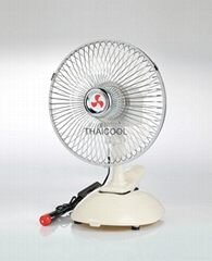"8""  Mini Oscillating Clip Car Fan Full-seal Guard 12V / 24V SUV RV"