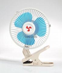 Oscillating full-seal guard clip-on car fan 8 inch with cigarette plug