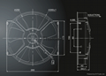 """10"""" AXIAL FANS-5skewed blade C2 3"""