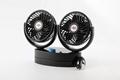 Double head auto oscillating 5.5 inch car cooling fan 12v 24v car fan