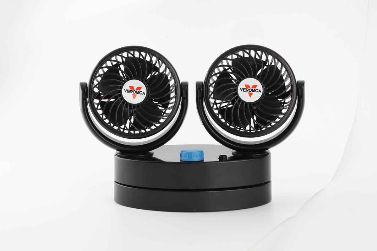 4 inch double head car cooling fan 12v 24v car fan 1