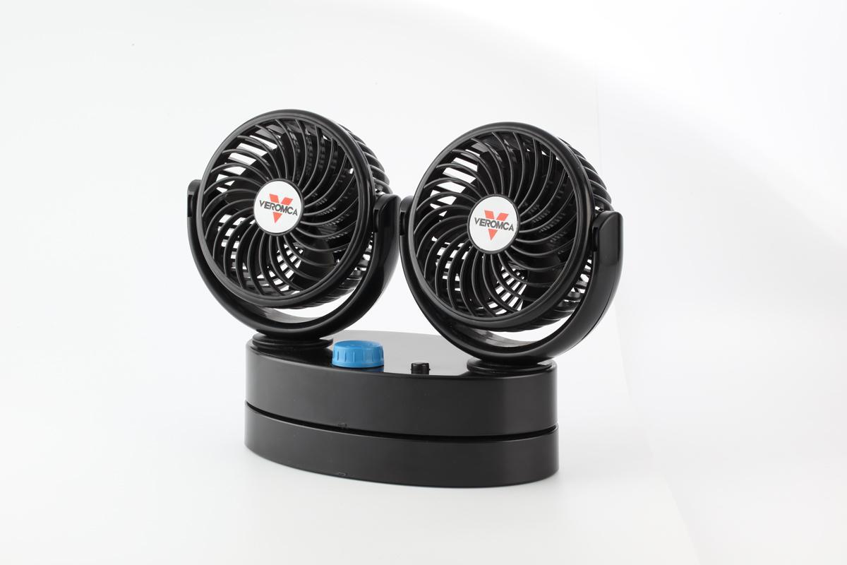 4 inch double head car cooling fan 12v 24v car fan 2