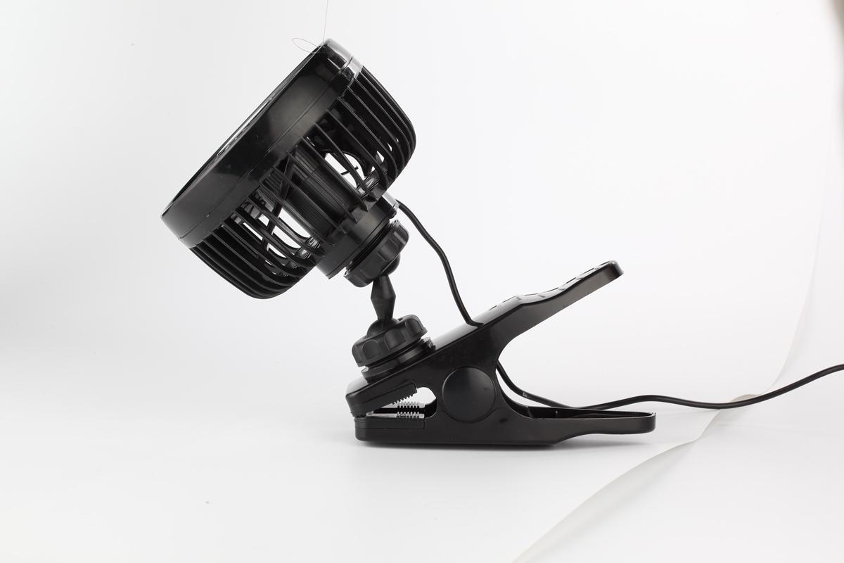 4.5 inch portable car cooling fan 12v 24v mini car fan with clip 2