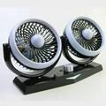 5 inch twin car fan fragrance light oscillating cooling fan 12v 24v low noise  2