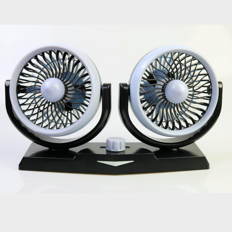 5 inch twin car fan fragrance light oscillating cooling fan 12v 24v low noise  1