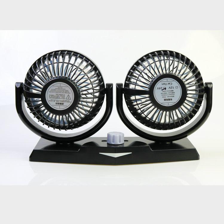 5 inch twin car fan fragrance light oscillating cooling fan 12v 24v low noise  3