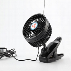 6 inch portable car cooling fan 12v 24v mini car fan with clip