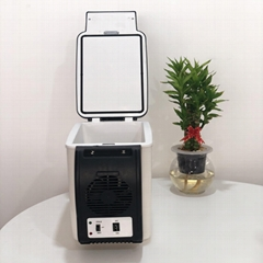 Portable Mini Fridge 6L Car Fridge 12V Outdoor Refrigerator Indoor