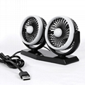 5.5 inch twin car fan with brushless