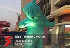 切麵熊雕塑
